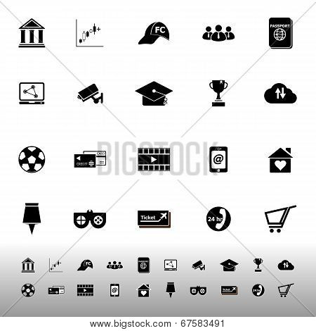 General Online Icons On White Background