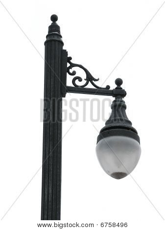 Old Traditional Street Lamp Isolated Over White