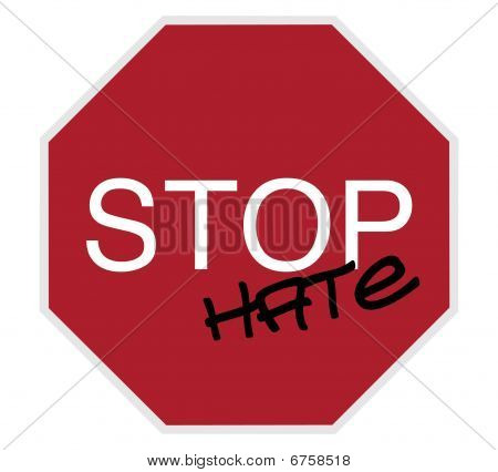 Stop Sign - Stop Hate