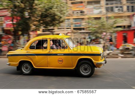 Yellow Indian Taxi