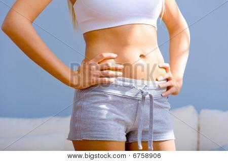 Female Wearing Exercise Clothing
