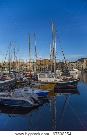Port Cala In Palermo, Italy
