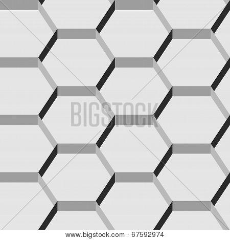 Seamless pattern of hexagons.
