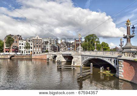Blauwbrug Bridge In Amsterdam