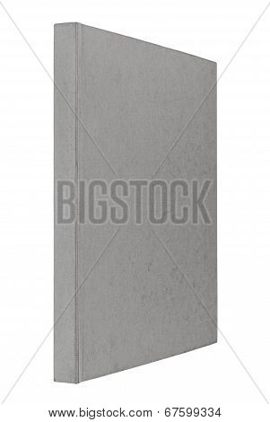 Grey Book Isolated On White