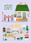 stock photo of quaint  - Make Your Cafe concept with a quaint hand - JPG