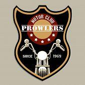 stock photo of motorcycle  - Motorcycle group badge - JPG