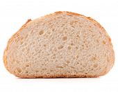 image of hunk  - Hunk or slice of fresh white bread isolated on white background cutout - JPG
