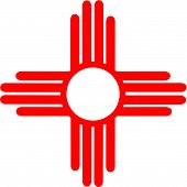 picture of american indian  - Ancient Sun Symbol of the Zia - JPG