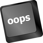 stock photo of rectifier  - The word oops on a computer keyboard - JPG