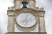 pic of sundial  - sundial on the clock tower of the Cathedral Basilica of St - JPG
