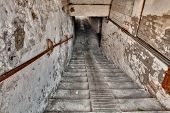 stock photo of underpass  - steps down to the underpass  - JPG