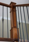 stock photo of bannister  - Corner bannister - JPG