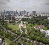 foto of cbd  - Singapore Central Business District CBD City Skyline Aerial View - JPG