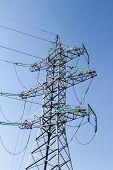 foto of utility pole  - high voltage pole photographed close - JPG