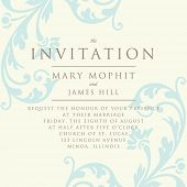 pic of damask  - Invitation with a rich background in Renaissance style - JPG