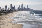 stock photo of sea-scape  - Gold Coast Australia view from Miami Headlands