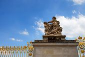 stock photo of versaille  - Detail of exterior of Palace of Versailles France - JPG