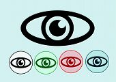 picture of snellen chart  - Eye icon and eye Chart Test Illustration - JPG