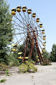 stock photo of nuclear disaster  - Ferris wheel in Pripyat  - JPG