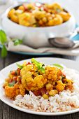 picture of chickpea  - Vegan curry with chickpeas - JPG