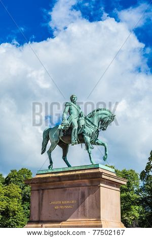 Statue  King Carl Johan Xiv In Oslo