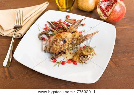 Roasted quail, italian recipe