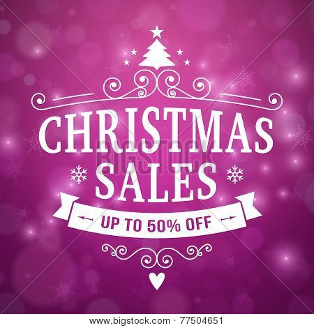 Christmas Sales Poster Background