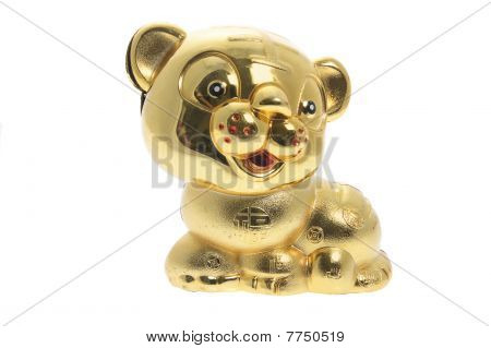 Golden Tiger Figurine