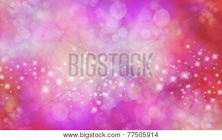 Christmas starry glitter Red and Pink background banner