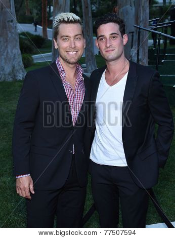 LOS ANGELES - SEP 13:  Lance Bass & Michael Turchin arrives to Brent Shapiro Foundation Summer Spectacular 2014  on September 13, 2014 in Los Angeles, CA