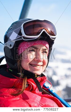 The Portrait Of Skier