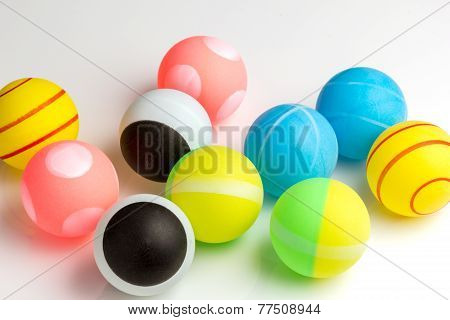 Colored Balls Ping Pong