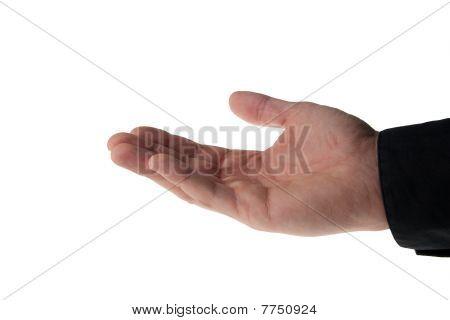 Caucasion Male Hand Taking Something