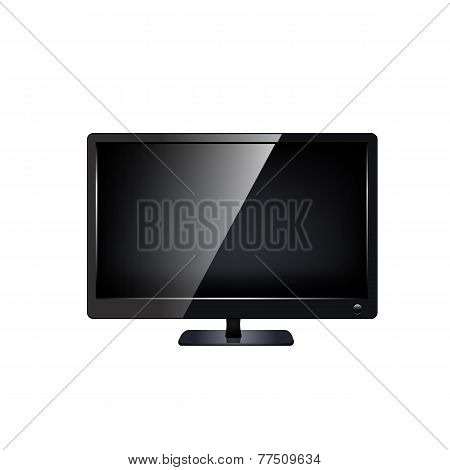 lcd tv monitor isolated.