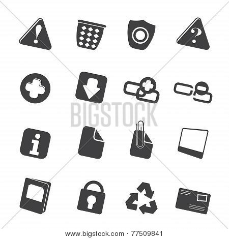 Silhouette Web site and computer Icons