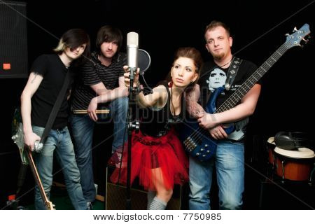 Group of rock musicians