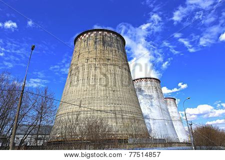 Large Factory Chimneys