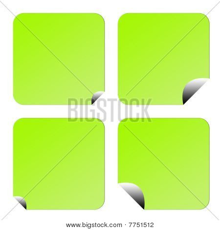 Green Eco Labels Or Stickers