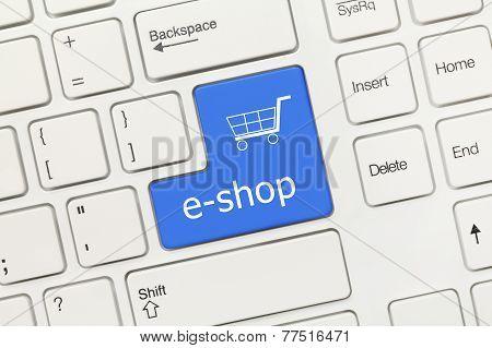 White Conceptual Keyboard - E-shop (blue Key)