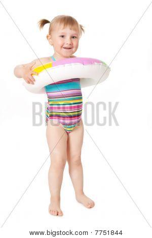 Junges Mädchen In Badeanzügen
