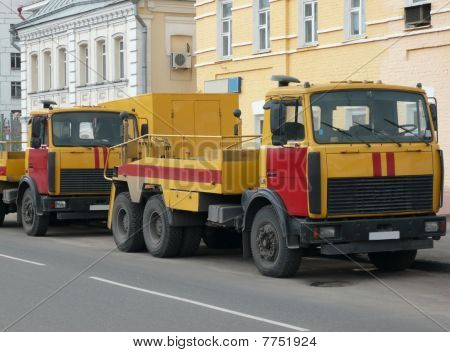 Red-yellow Emergency Truck