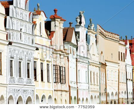 renaissance houses in Telc Czech Republic