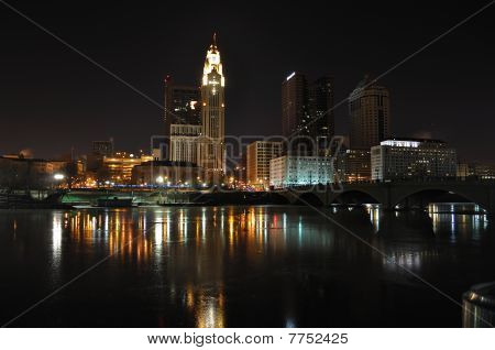 Night Photograph of Columbus, Ohio