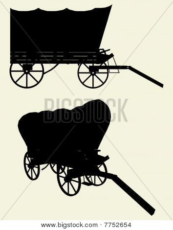 Western Stage Coach Wagon Vec...