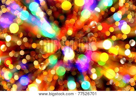 Abstract Christmas Lights Explosion