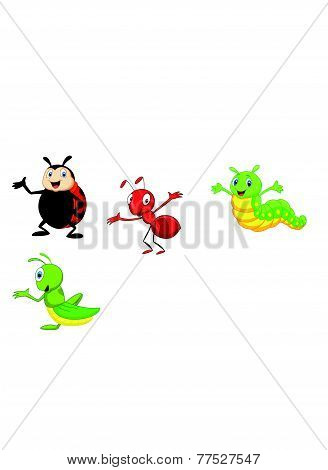 Vector Cartoon insect