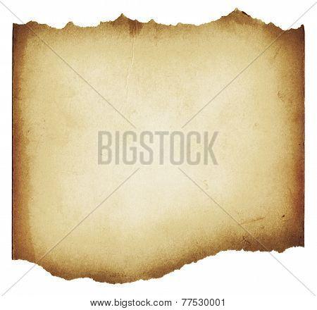Brown torn grunge paper texture