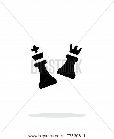 Chess attack simple icon on white background.