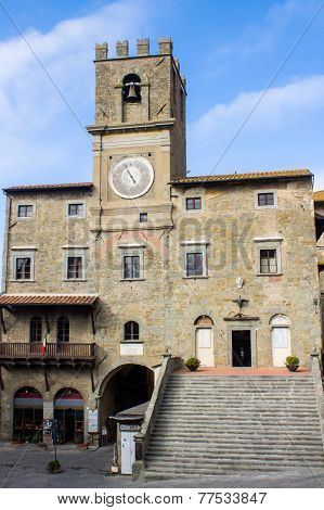 The Town Hall In Cortona City Center
